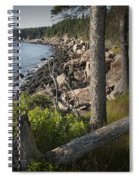 Vertical Photograph Of The Rocky Shore In Acadia National Park Spiral Notebook