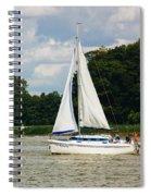 Vertical Sailboat Spiral Notebook