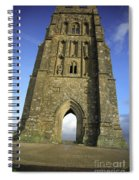 Vertical View Of Glastonbury Tor Spiral Notebook