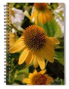 Vertical Yellow Flowers Spiral Notebook