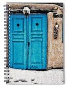 Very Blue Door Spiral Notebook