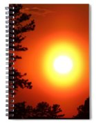 Very Colorful Sunset Spiral Notebook