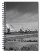 Very Large Array In Black And White Spiral Notebook