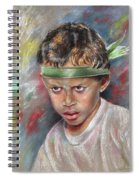 Very Young Maori Warrior From Tahiti Spiral Notebook
