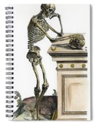 Vesalius: Skeleton, 1543 Spiral Notebook