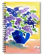 Vase With Lilas Flowers Spiral Notebook