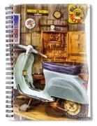 Vespa Scooter Spiral Notebook