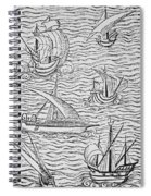 Vessels Of Early Spanish Navigators From The Narrative And Critical History Of American Spiral Notebook