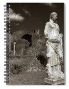 Vestal Virgin Courtyard Statue Spiral Notebook