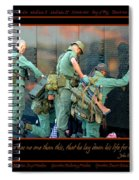Veterans At Vietnam Wall Spiral Notebook