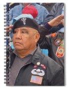 Veterans Saluting Passing Flag In A Parade Sacaton Arizona 2005-2013 Spiral Notebook