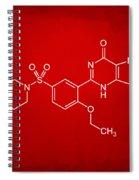 Viagra Molecular Structure Red Spiral Notebook