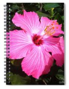 Vibrant Pink Hibiscus Spiral Notebook