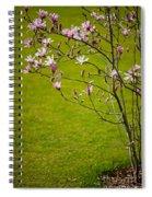 Vibrant Pink Magnolia Blossoms Spiral Notebook