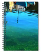 Vibrant Reflections -water - Blue Spiral Notebook