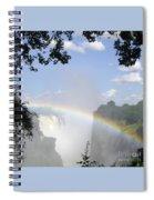Victoria Falls Rainbow Spiral Notebook