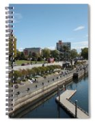 Victoria Harbour With Empress Hotel Spiral Notebook
