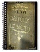 Victorian Dentist Sign Spiral Notebook