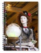 Victorian Fortune Teller Spiral Notebook