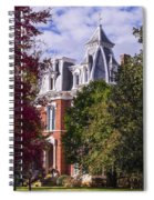 Victorian Home In Autumn Photograph As Gift For The Holidays Print Spiral Notebook