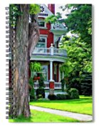Victorian Home Painted Version Spiral Notebook