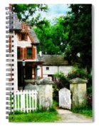 Victorian Home With Open Gate Spiral Notebook