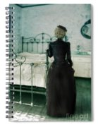 Victorian Lady In A Bedroom Spiral Notebook