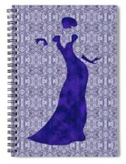 Victorian Lady In Blue Spiral Notebook