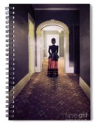 Victorian Lady In Hallway Spiral Notebook
