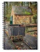 Victorian Mining Cart Spiral Notebook