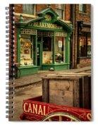 Victorian Town Spiral Notebook