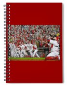 Victory - St Louis Cardinals Win The World Series Title - Friday Oct 28th 2011 Spiral Notebook