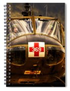 Vietnam Era Medivac 369 Helicopter Spiral Notebook