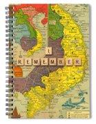 Vietnam War Map Spiral Notebook