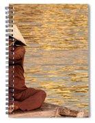 Vietnamese Boatman 01 Spiral Notebook