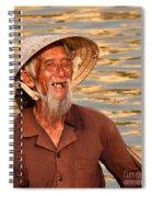 Vietnamese Boatman 02 Spiral Notebook