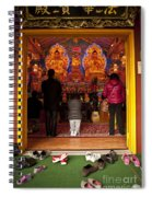 Vietnamese Temple Shrine Prayer Spiral Notebook