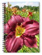 Viette's Daylily. Dark Purple 01 Spiral Notebook