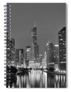 View Down The Chicago River Spiral Notebook