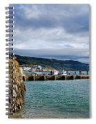 View From Back Beach - Lyme Regis Spiral Notebook
