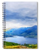 View From Bealach Ratagan To The Five Sisters Of Kintail Spiral Notebook