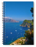 View From Capri Spiral Notebook
