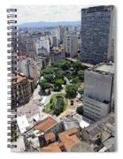 View From Edificio Martinelli 3 - Sao Pulo Spiral Notebook