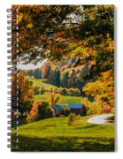 View From The Hill Spiral Notebook