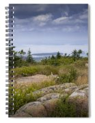 View From Top Of Cadilac Mountain In Acadia National Park Spiral Notebook