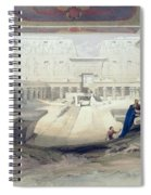 View From Under The Portico Of Temple Spiral Notebook