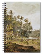 View Near Point Du Galle, Ceylon, Engraved By Daniel Havell 1785-1826 Published In 1809 Coloured Spiral Notebook