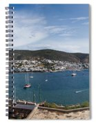 View Of A Harbor From A Castle, St Spiral Notebook