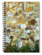 View Of A Stone Wall Spiral Notebook
