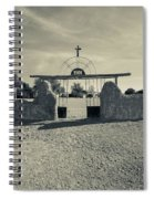 View Of Abandoned Church Gate Spiral Notebook